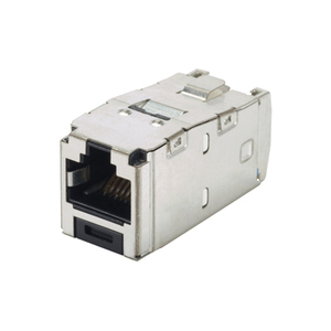 Panduit CJS5E88TGY Snap-In Connector, Shielded, Cat 5e+, Mini-Com, TX5e, UTP, Gray