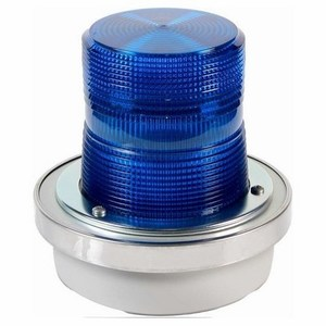 Edwards 50B-N5-40WH Flashing Halogen Beacon, Blue