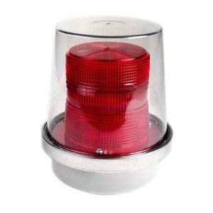 Edwards 49R-N5-40WH Flashing Halogen Beacon, Red