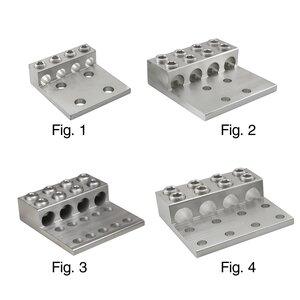 "Ilsco T4A4-250N Mechanical Lug, 3 Conductor, Four Hole, 1/2"""