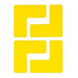 "Brady 104433 Floor Marking Tape, 2"" x 5"" Corner L Mark, Yellow"