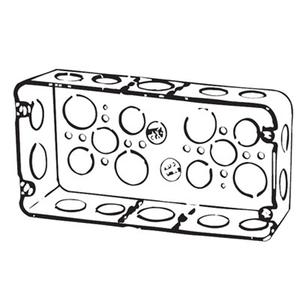 "Steel City H3BD-3/4-1 Gang Box, 3-Gang, 2-1/2"" Deep, 1/2"", 3/4"", 1"" KOs, Drawn, Steel"
