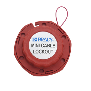 Brady 50940 Mini Cable Lockout W/metal Cable