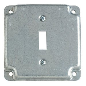 "Steel City RS-9 4"" Square Exposed Work Cover, (2) Toggle Switch"