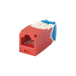 Panduit CJ6X88TGRD Mini-Com Module, Cat 6A, UTP, 8 pos 8 wi