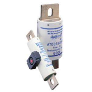 Mersen A70QS300-4 Fuse, 300A, 700VAC, QS Style, Semi-Conductor, Bolt On, Blades