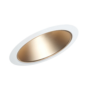 "Juno Lighting 612-WHZWH Slope Trim, Cone, 6"", Wheat Haze Reflector/White Trim"
