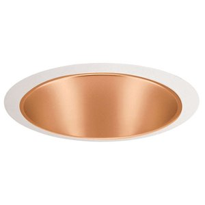 "Juno Lighting 27-WHZWH Cone Trim, Tapered, 6"", Wheat Haze Reflector/White Trim"