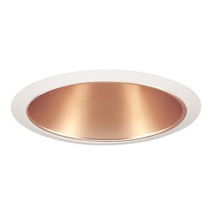 "Juno Lighting 26-WHZWH Cone Trim, Straight, 6"", Wheat Haze Reflector/White Trim"