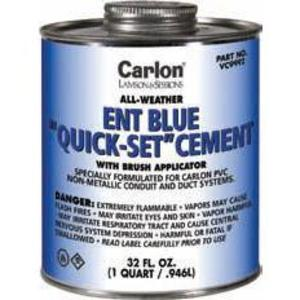 Carlon VC9992 ENT or PVC All Weather Blue Cement, Quick-Set