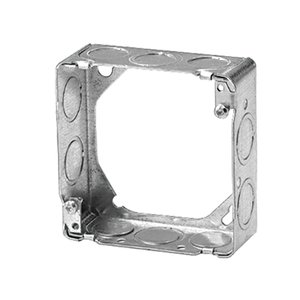 "Steel City 73151-1/2-3/4 4-11/16"" Square Extension Ring, 1-1/2"" Deep, Drawn, Metallic"