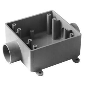 Carlon E9812E Weatherproof Box, 2-Gang, Non-Metallic, Type 2FSC, Non-Metallic