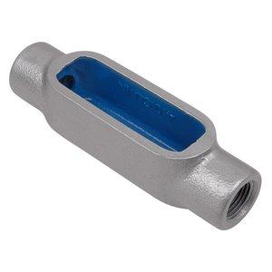 """Ocal C37-G PVC Coated Conduit Body, Type C, Size: 1"""", Form 7, Iron/PVC Coated"""