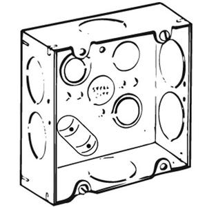 "Steel City 72171-1-1/4 4-11/16"" Square Box, Welded, Metallic, 2-1/8"" Deep"