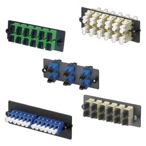 Panduit FAP6WBUDLCZ LC Fiber Adapter Panel, 6 Duplex, Singlemode, Adapters, Blue