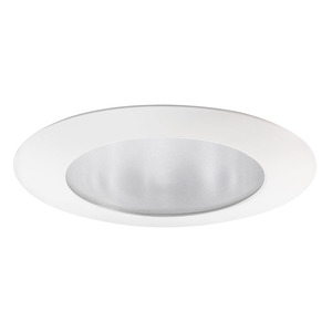 "Juno Lighting 210-WH Shower Trim, 5"", Flat Glass, White"