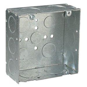 "Steel City 72171-3/4-1 4-11/16"" Square Box, Welded, Metallic, 2-1/8"" Deep"
