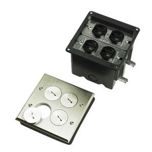 Pass & Seymour FB2-TR-DR2-N P&S FB2-TR-DR2-N FLOOR BOX 2G 2 DUP