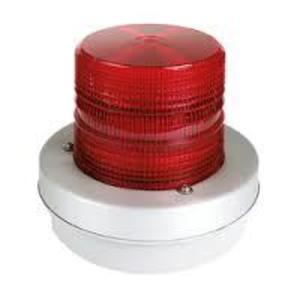 Edwards 93R-N5 Strobe Light, Heavy Duty, Single Flash, 120V, Polycarbonate, Red