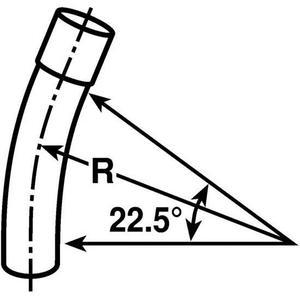 """Multiple 500221236ELB 5"""" PVC Elbow, 22-1/2°, Schedule 40, 36"""" Radius"""