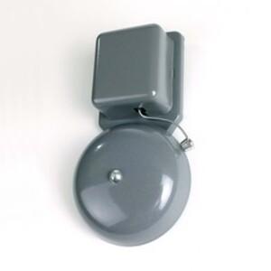 "Edwards 55-6G5 Vibrating Bell, 24 VAC, Diameter: 6"",  0.20A, Gray"