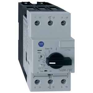 Allen-Bradley 140M-F8N-C45 Breaker, Motor Protection, 45A, F Frame, 3P, 600VAC, High Break