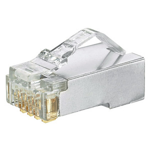 Panduit MPS588-C Snap-In Connector, Cat 5e, Modular, Shielded, Clear, 100/PK