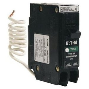 Eaton BRCAF115 Breaker, 15A, 1P, 120/240V, 10 kAIC, Type BR Combo AFCI