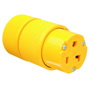 Pass & Seymour D0533 Straight Blade Connector, 30A, 125V, Yellow