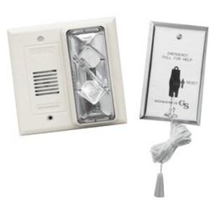 Edwards 7008B-N5 Call For Assistance Kit, Buzzer/Strobe, White, 120V AC