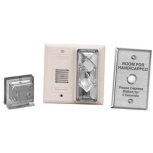 Edwards 7005-G5 Hotel Room Annunciator Kit, 120V AC Primary, 24V AC Secondary, White