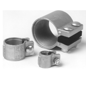 "Cooper Crouse-Hinds TCC8 Split Coupling, Size: 3"", Concrete Tight, Material: Iron"