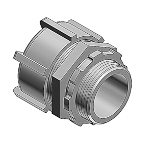 "Thomas & Betts 5238AL Liquidtight Connector, Straight, Non-Insulated, Size: 2-1/2"", Aluminum"