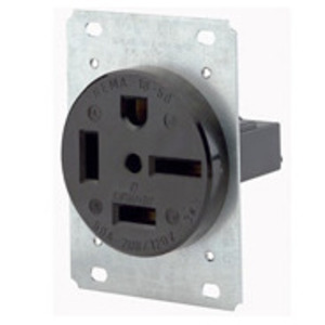 Leviton 8460 60 Amp Flush Mount Receptacle, 250V 3PH, 15-60R, 3P4W, Grounding