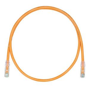Panduit UTPSP1ORY Copper Patch Cord, Cat 6, Orange UTP Cab