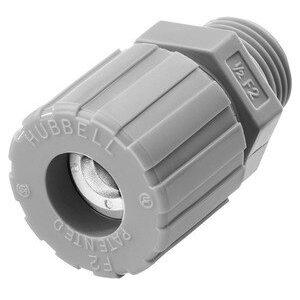 "Hubbell-Kellems SHC1022CR Cord Connector, Straight, 1/2"", Cord Range: 0.25"" - 0.38"", Nylon"