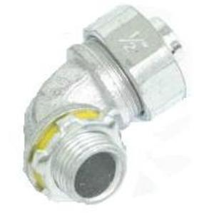 "Cooper Crouse-Hinds LT5090 Liquidtight Connector, 90°, 1/2"", Non-Insulated, Malleable Iron"