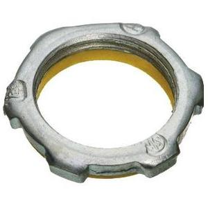 "Cooper Crouse-Hinds SL1 Sealing Locknut With PVC Gasket, Size: 1/2"", Material: Malleable Iron"