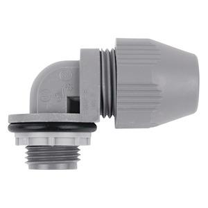 "Thomas & Betts LT-593 Liquidtight Connector, 90°, 1"", Plastic, Gray"