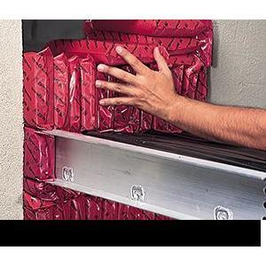 "Specified Tech SSB36 Red Fire Barrier Pillow - LxWxD: 3""x 6""x 9"", 16 per Case"
