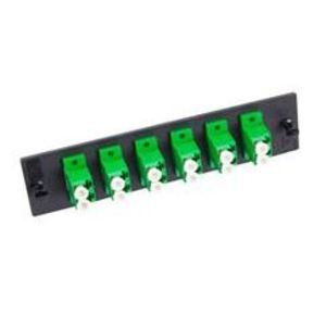 Optical Cable 616SMDLC Adapter Plate, 6-Port, Dual LC, Single-mode, Ceramic Sleeve