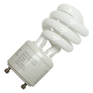 TCP 33113SP Compact Fluorescent Lamp, 13W, GU24 Twist Lock, 2700K