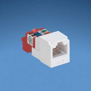 Panduit CJ5E88TGIW Snap-In Connector, Cat 5e+, Mini-Com, TX5e, UTP, White