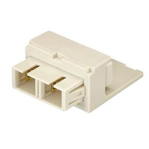 Panduit CMSEISCEI SC Fiber Optic Adapter Module, SC Multimode, Ivory