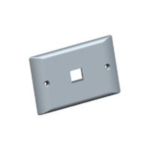 Tyco Electronics 2111021-3 Wallplate, 1-Gang, 1-Port, Snap-In, Alpine White, Thermoplastic