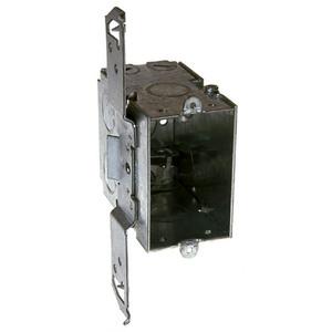 "Hubbell-Raco 604 Switch Box, Gangable, 3-1/2"" Deep, AC/MC Clamps, TS Bracket"