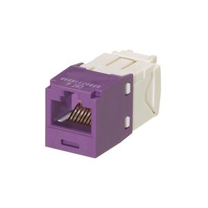 Panduit CJ688TGVL Snap In Connector, Mini-Com, TX6 PLUS UTP, Cat 6, Violet