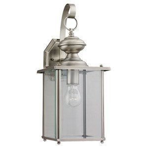 Sea Gull 8458-965 Lantern, Outdoor, 1 Light, 100W, Antique Brushed Nickel