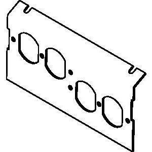 Wiremold P8104-2DP Ac8104 Plate For 2 Duplex Devices