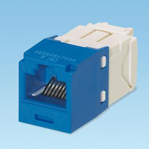 Panduit CJ688TGBU Snap In Connector, Mini-Com, TX6 PLUS UTP, Cat 6, Blue